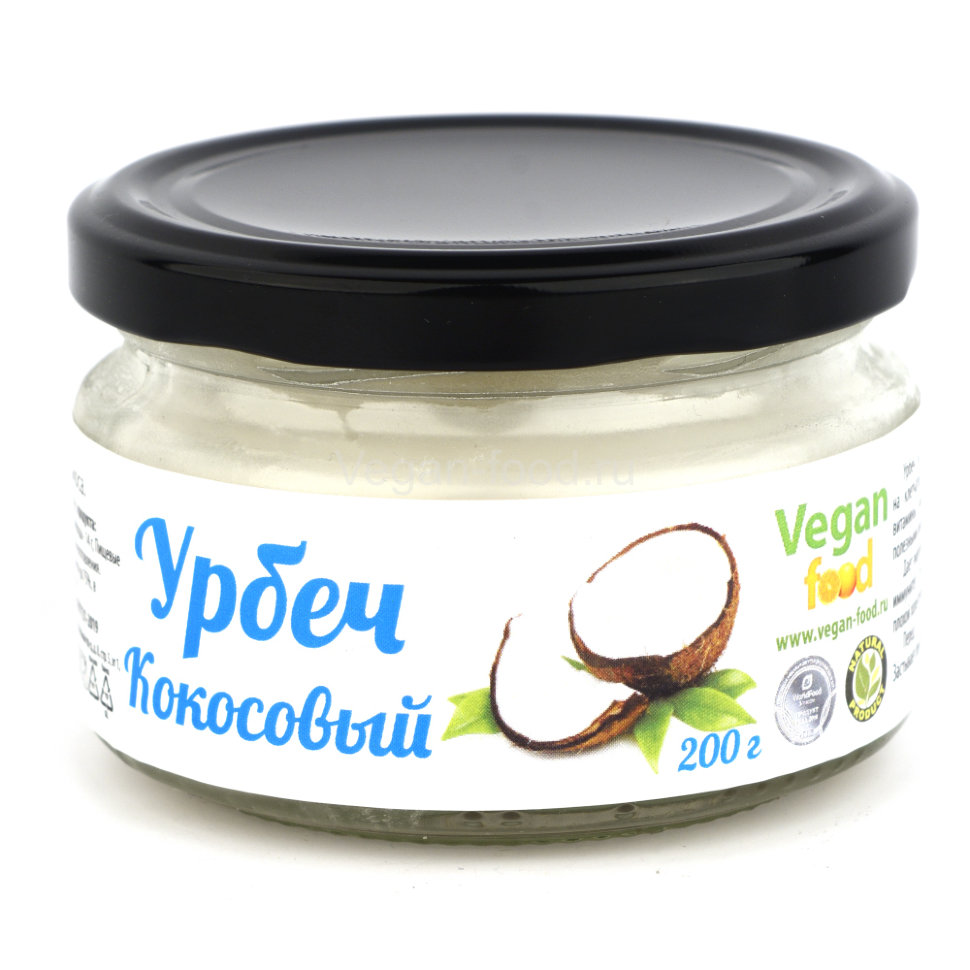Урбеч из мякоти кокоса Vegan food, 200 г