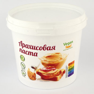 Арахисовая паста натуральная Vegan food, 1 кг